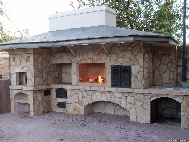 Многофункциональная, компактная уличная печь-мангал 88