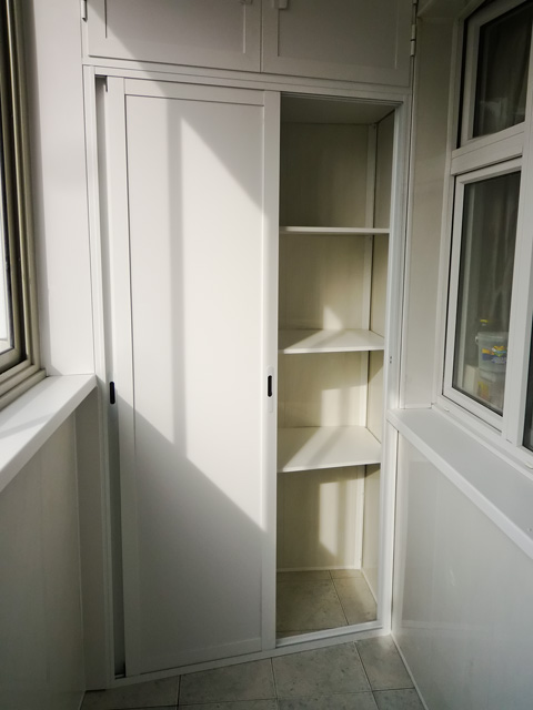Шкаф на балкон, виды и характеристики - фото примеров.