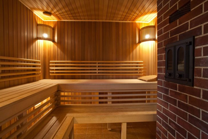 внутренний интерьер бани