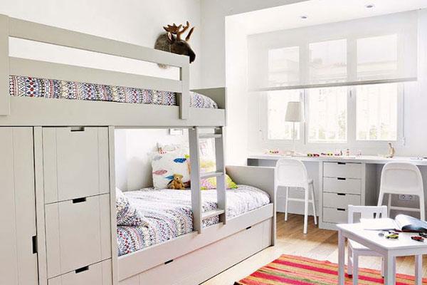 детские комнаты с двухъярусной кроватью фото примеров