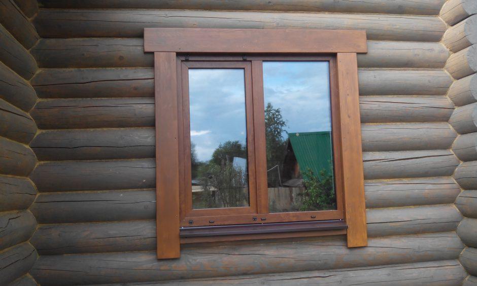 Наличники на пластиковые окна в деревянном доме своими руками