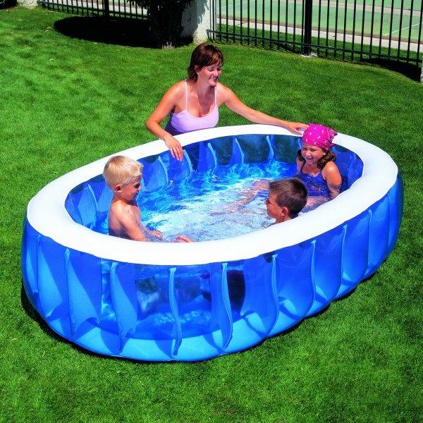 недорогой каркасный бассейн для дачи