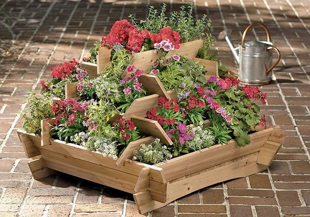 Деревянные клумбы для цветов своими руками фото - клумбы и ц.