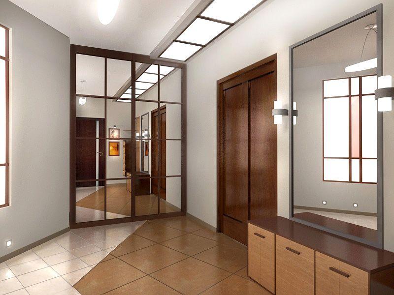 Фото коридора в доме и шкаф купе