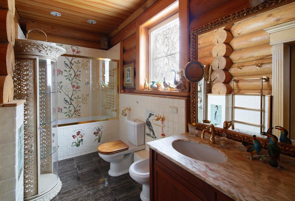 ремонт ванной в деревянном доме