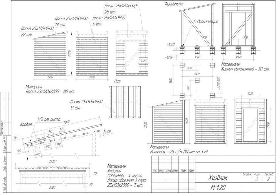 Кирпичный сарай своими руками чертежи список стройматериала