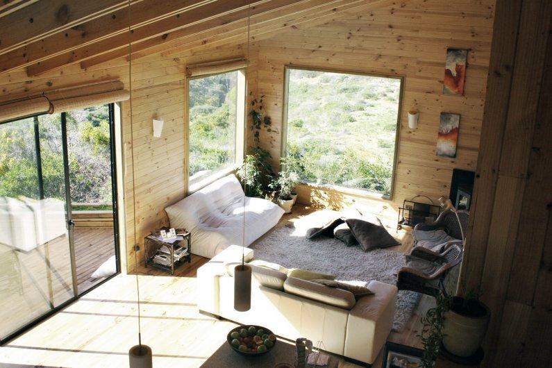 Интерьер маленького дома из бруса внутри фото