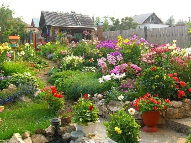 Оформление цветников на даче своими руками фото