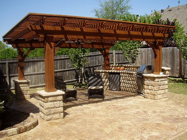 Односкатная крыша для мангала
