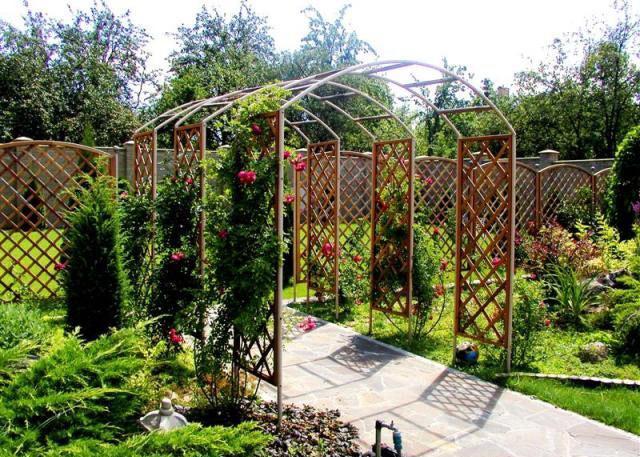 Садовая арка своими руками для винограда