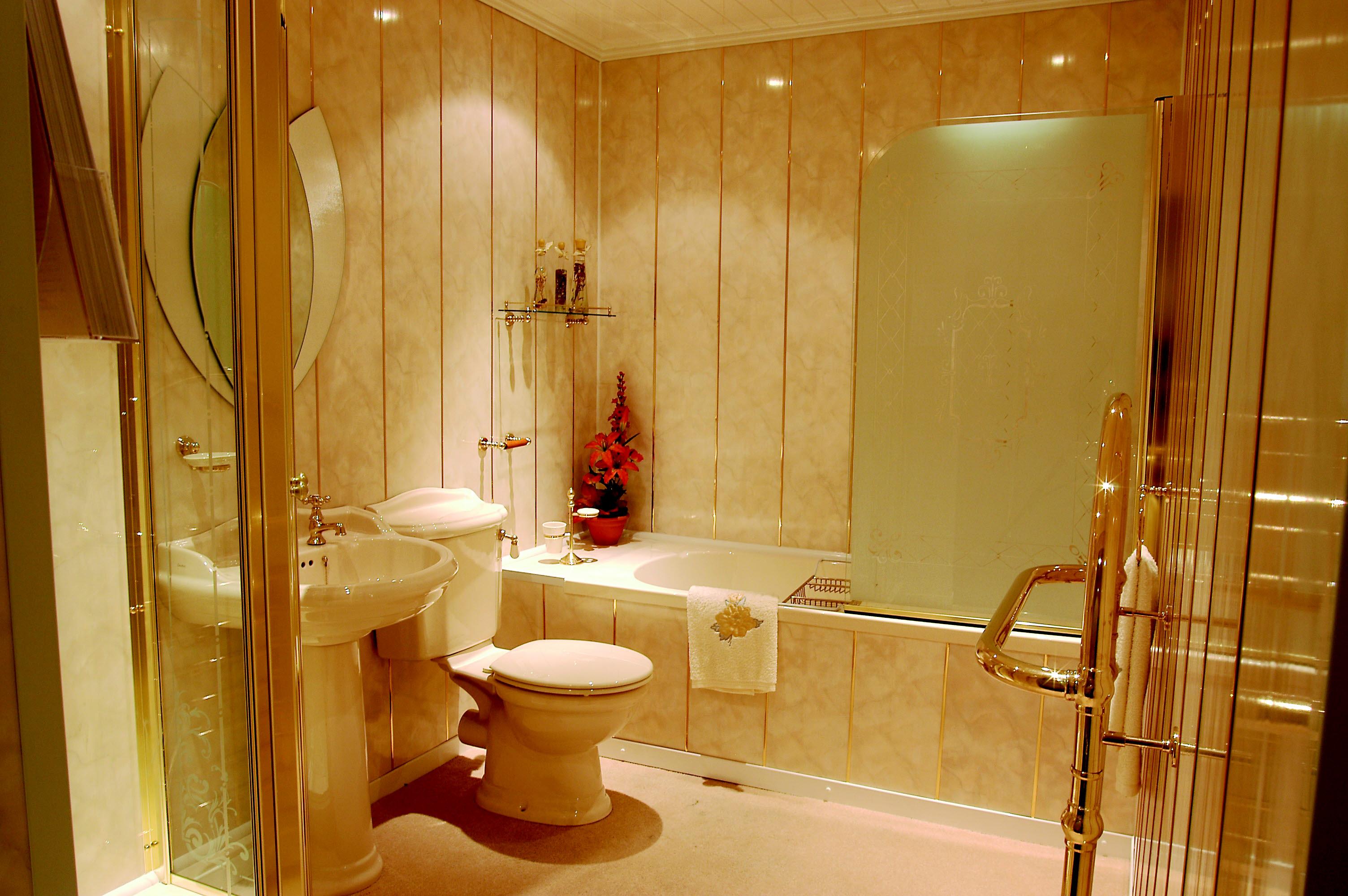 Ремонт ванной стеновыми панелями