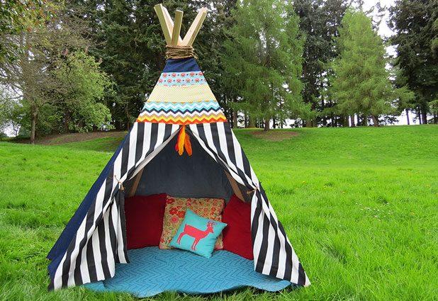 001-20 Вигвам детский своими руками. Палатка вигвам, для детей, выкройки, мастер класс. Алгоритм пошива вигвама для ребенка и его разновидности