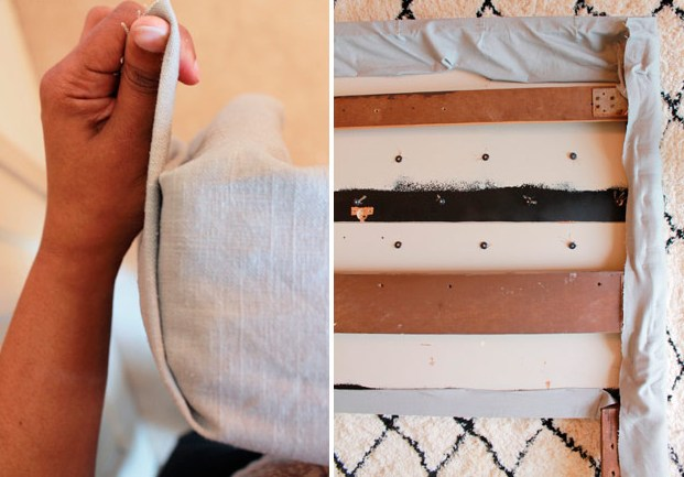 Как сделать спинку кровати мягкой своими 819