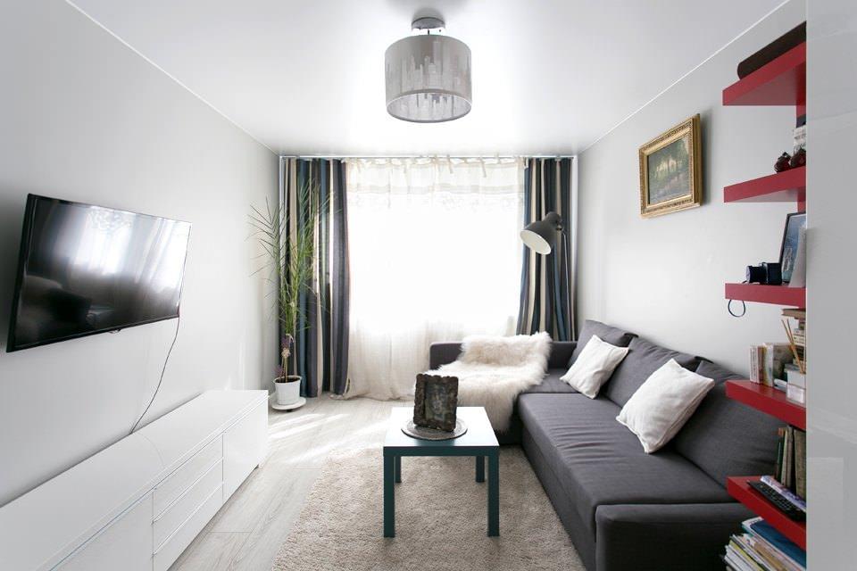 Белый дизайн спальной комнаты