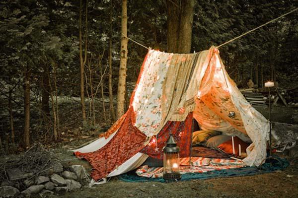Как сделать палатку на улице своими руками 76