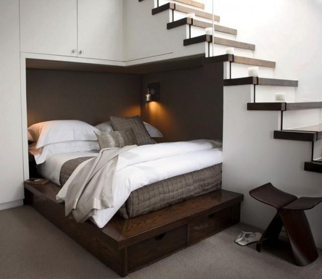 идеи использования пространства под лестницей