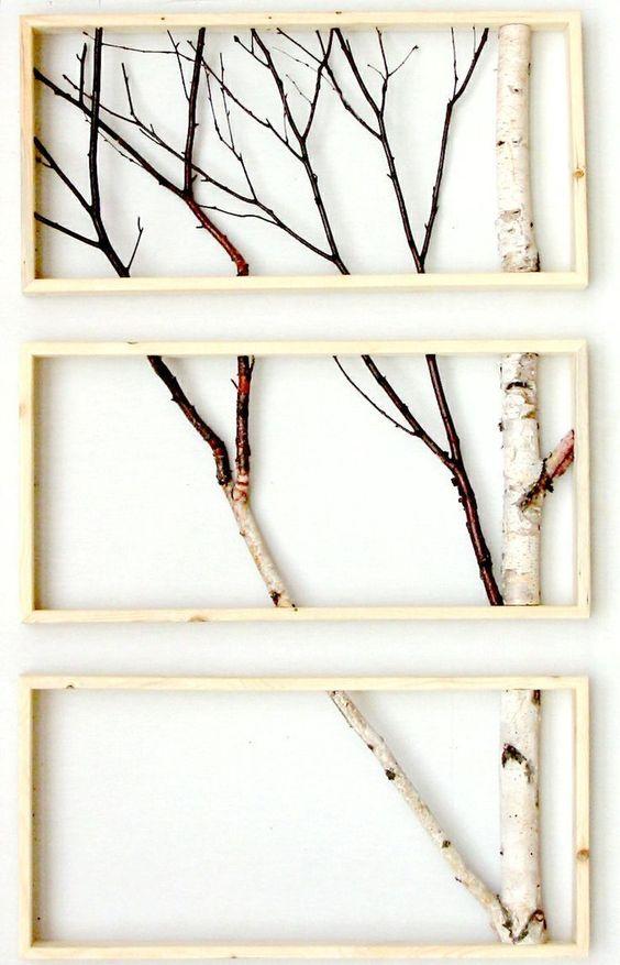 Сухие ветки в интерьере своими руками 44