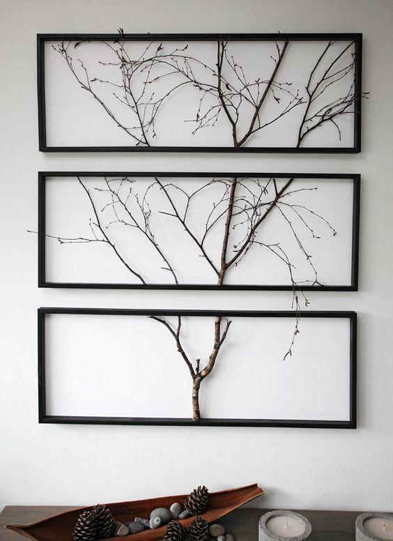 ветки деревьев в интерьере
