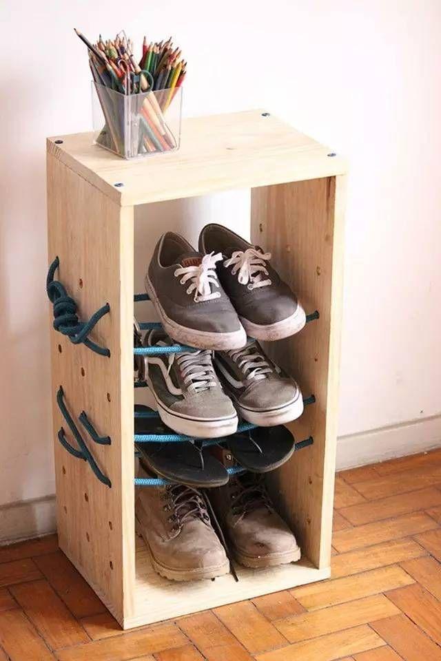 Как сделать тумбочку для обуви своими руками просто