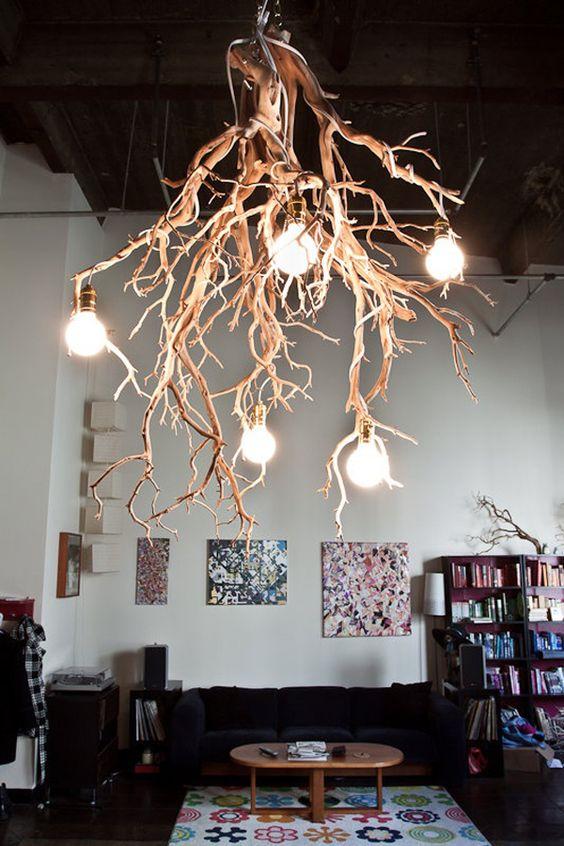 Люстра из корней дерева