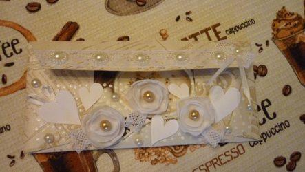 Как сделать свадебный конверт для денег из обоев своими руками?