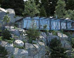 Современный дом из стекла и стали в горах Колорадо