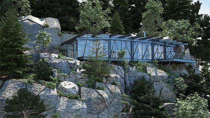 Дом из стекла и стали