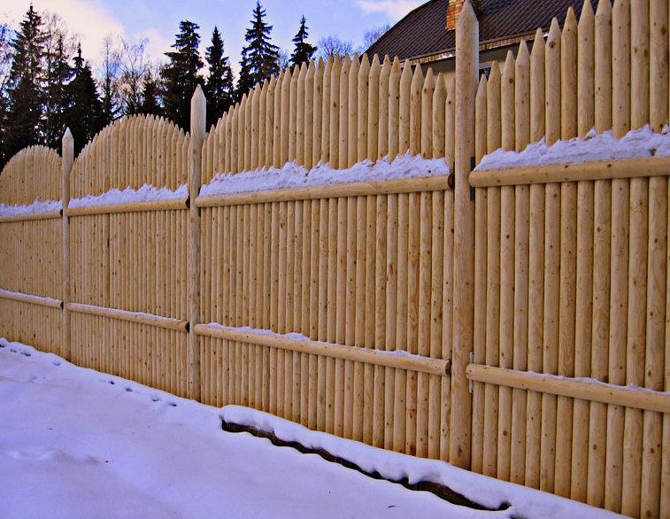 Забор из кольев своими руками