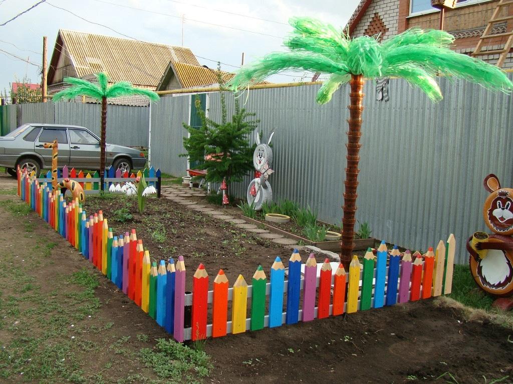 Декоративные заборчики своими руками из подручных материалов фото