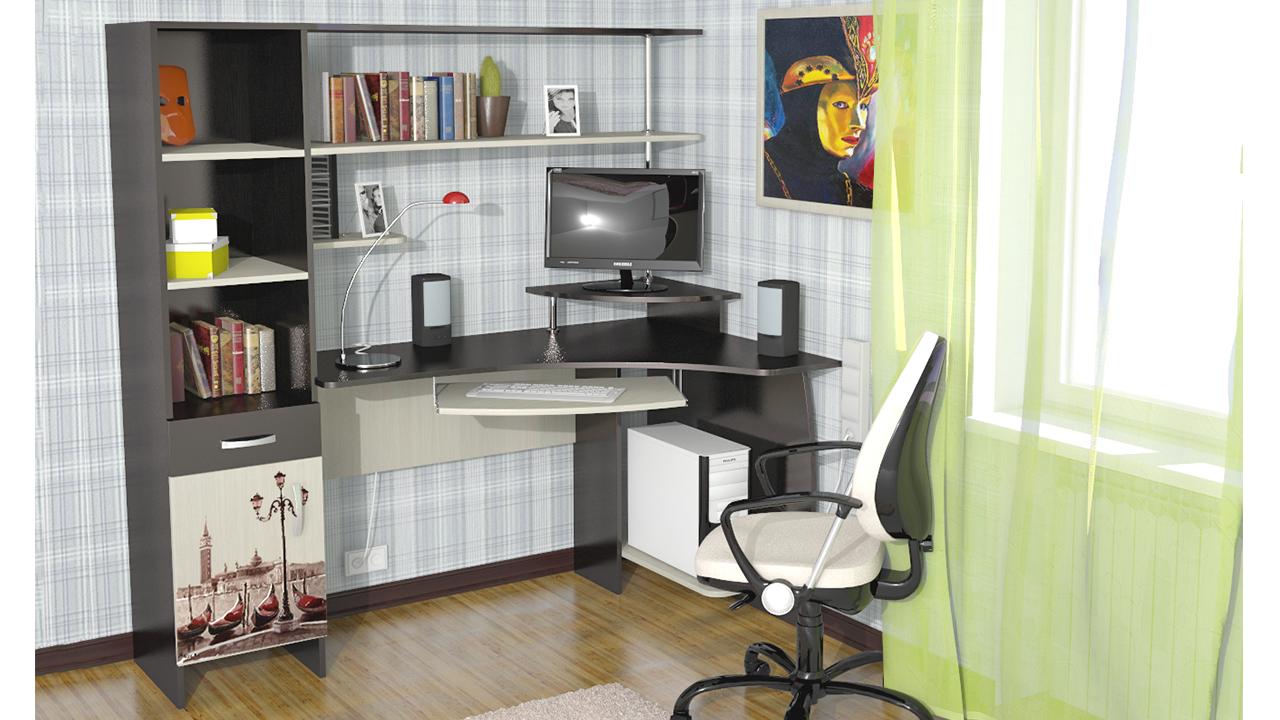 Компьютерный стол угловой своими руками: фото и видео.