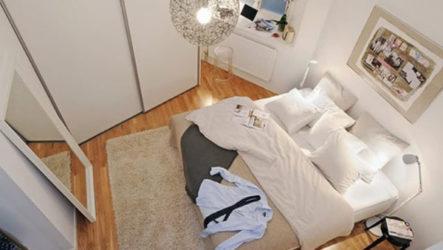 Стильное обустройство маленькой спальни