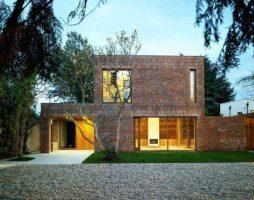 Кирпичные дома в современном стиле