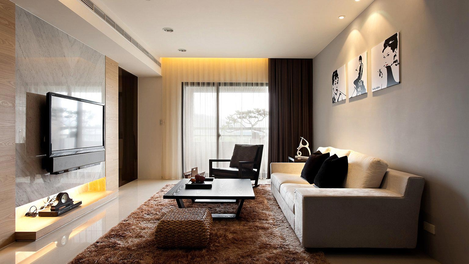 Фото минимализм дизайн зала