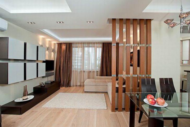 Дизайн перегородок в гостиной
