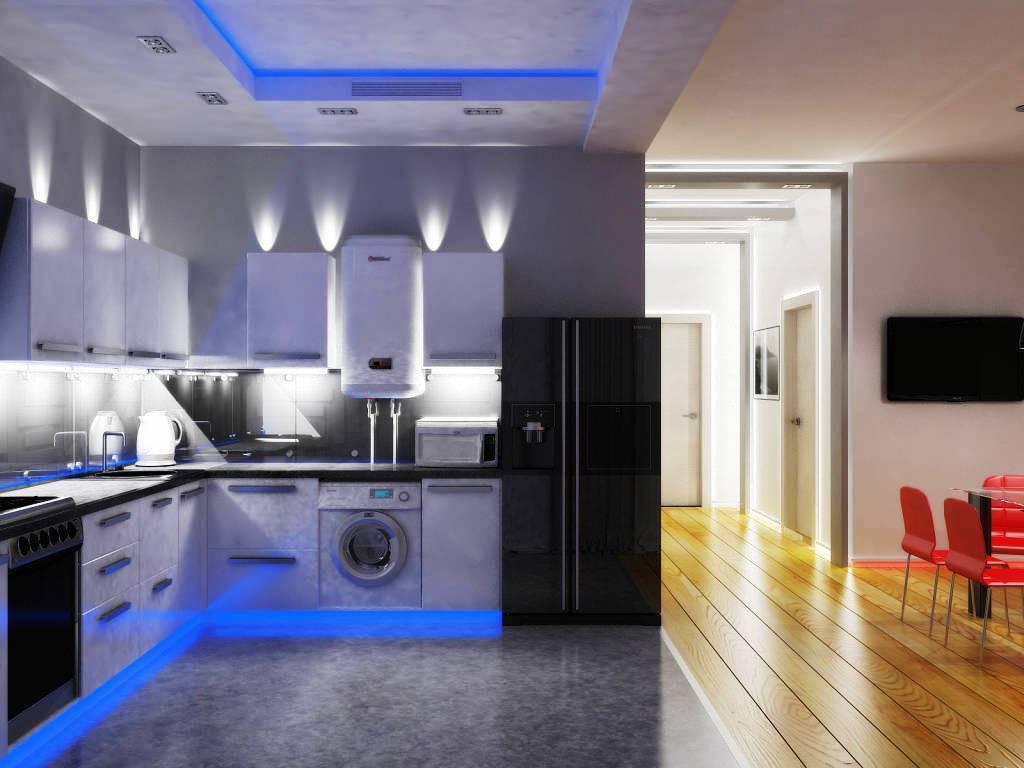 Освещение кухни фото 2016 современные идеи