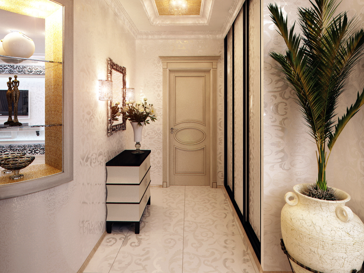 Маленький узкий коридор дизайн