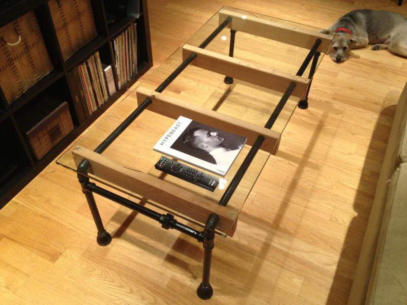 Деревянный стол в стиле лофт своими руками 26