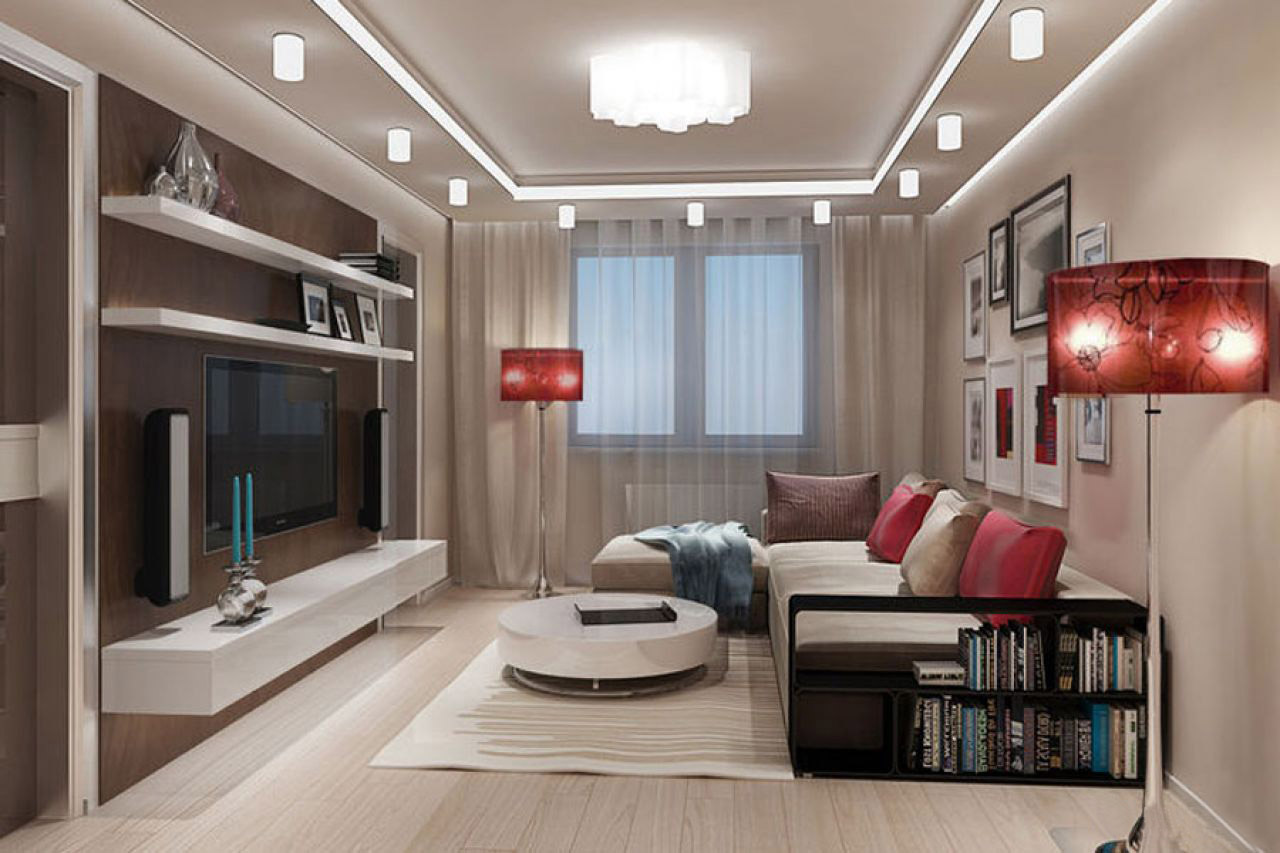 дизайн гостиной в квартире фото реальные скорость