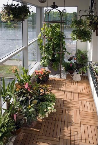 практичное использование пространства балкона