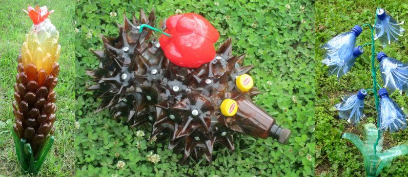 Поделка из пластиковых бутылок для дачи своими руками