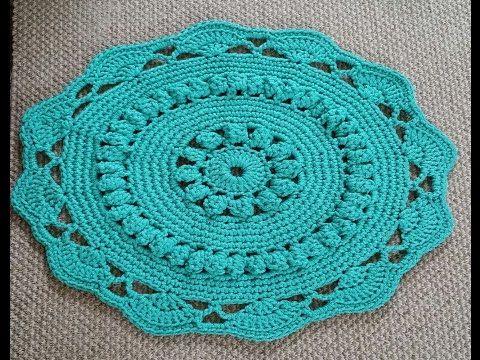 Вязание коврика шнуром 9