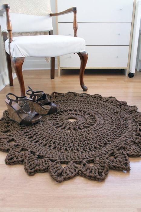 коврики вязаные крючком