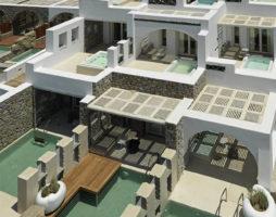 Традиционный средиземноморский стиль и уникальность дизайна бутик-отеля на греческом  острове Миконос