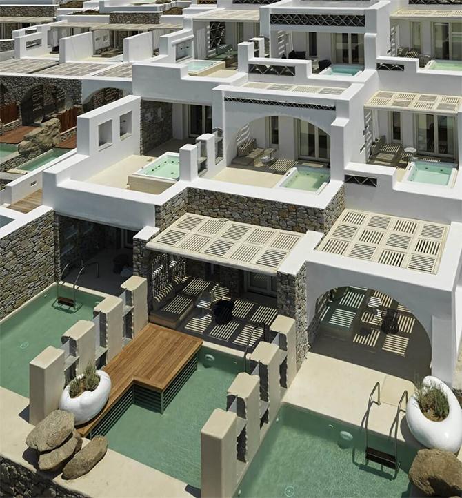 Средиземноморский стиль бутик-отеля