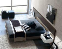 Оформление спальной комнаты в стиле модерн