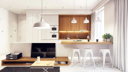 Интерьеры квартир в современном стиле, современный интерьер квартир