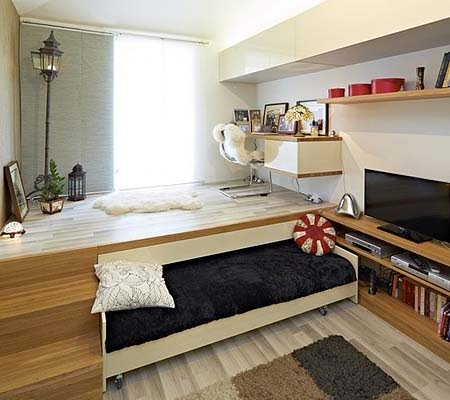 кровать подиум
