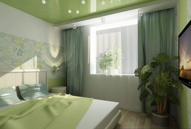 натяжные потолки для спальни