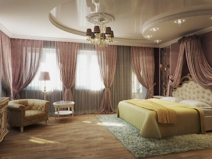 Как сделать натяжной потолок в спальни 642