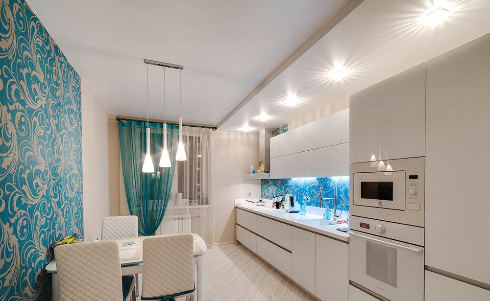 Кухня дизайн потолок